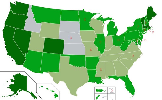 1A Map of US state cannabis laws2